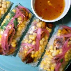 Blackened Shrimp Taco Spring Rolls