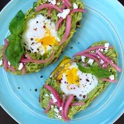 Egg in hole avocado toast