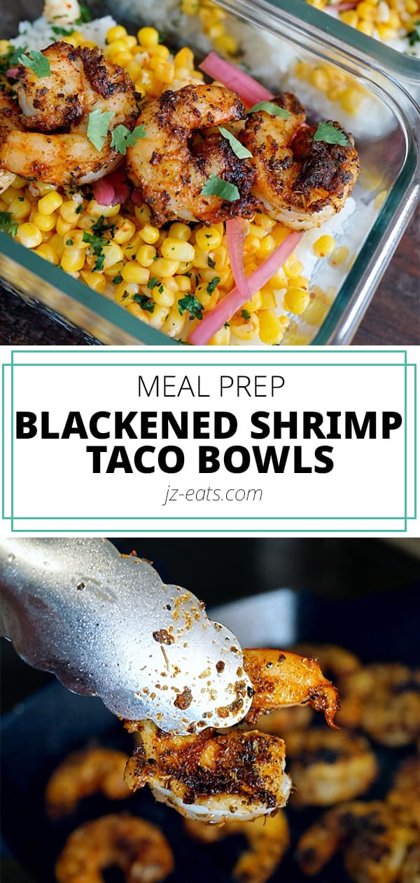 Blackened shrimp taco bowl pinterest pin