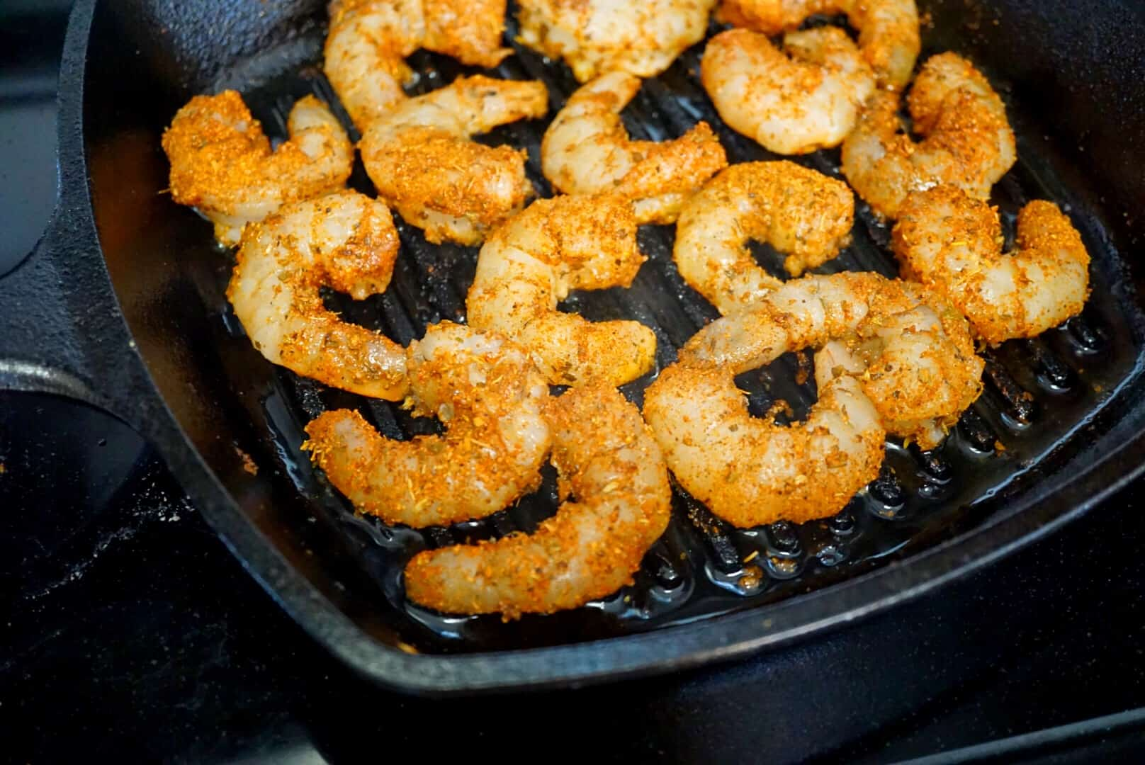Blackened Shrimp in Pan