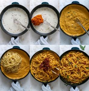 steps for making pumpkin pasta
