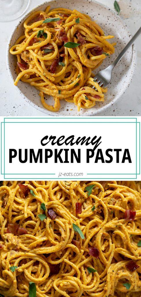 pumpkin pasta pinterest pin