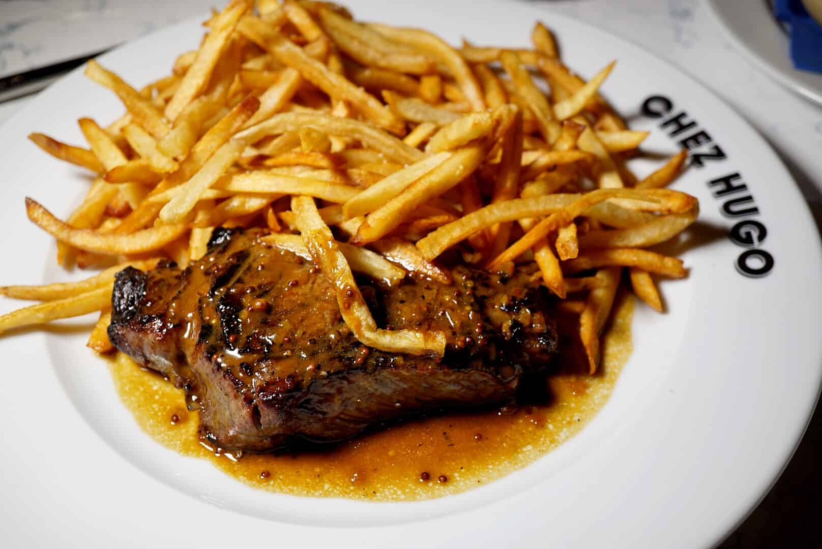 Steak Frites from Baltimore French Restaurant Chez Hugo in Baltimore