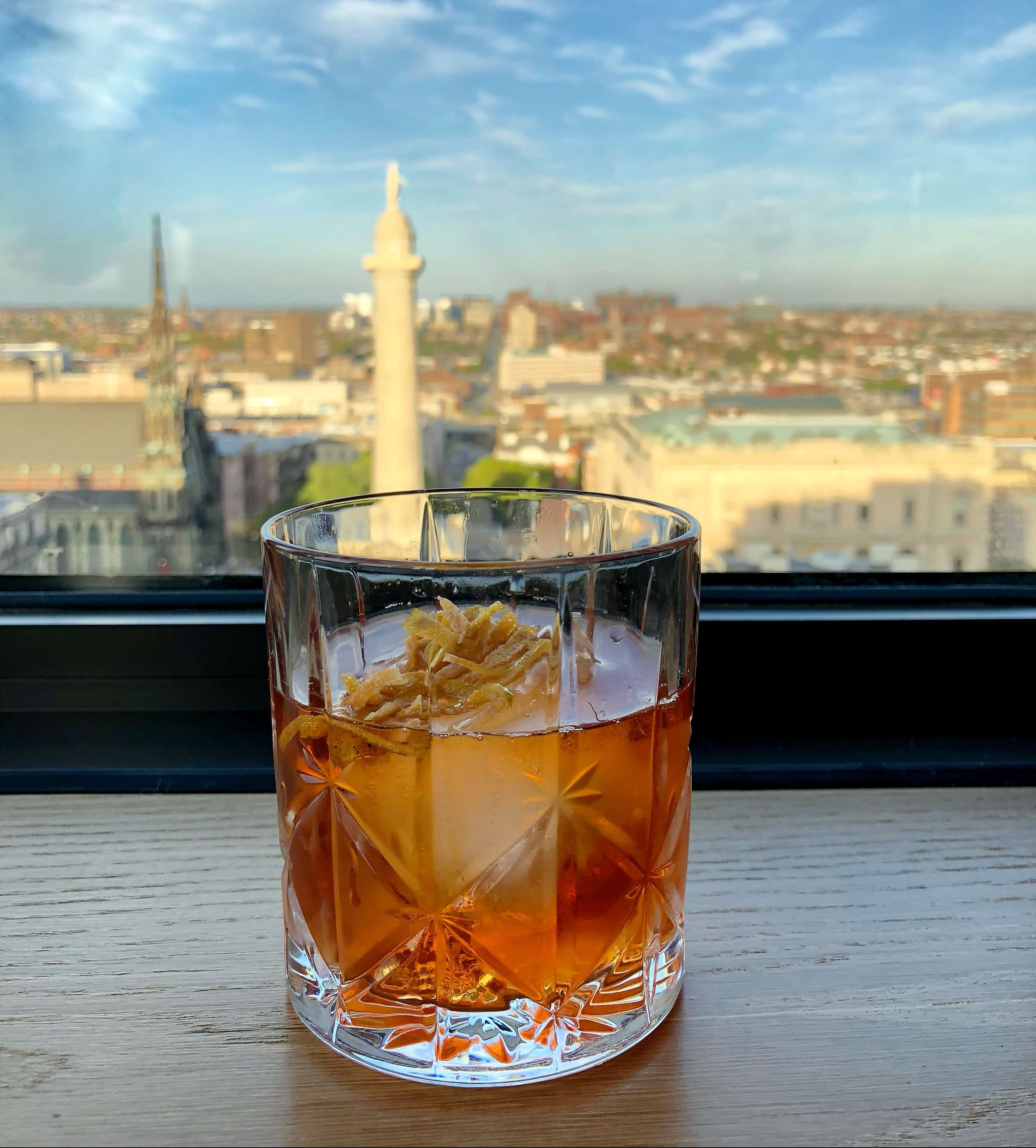 Baltimore Staycation at Hotel Revival - Topside Cocktail
