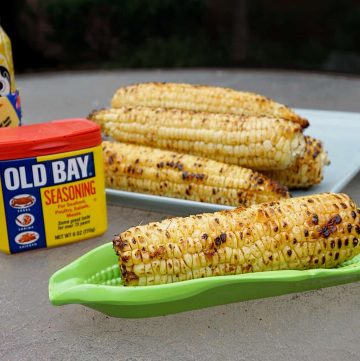 Grilled corn with old bay and natty boh