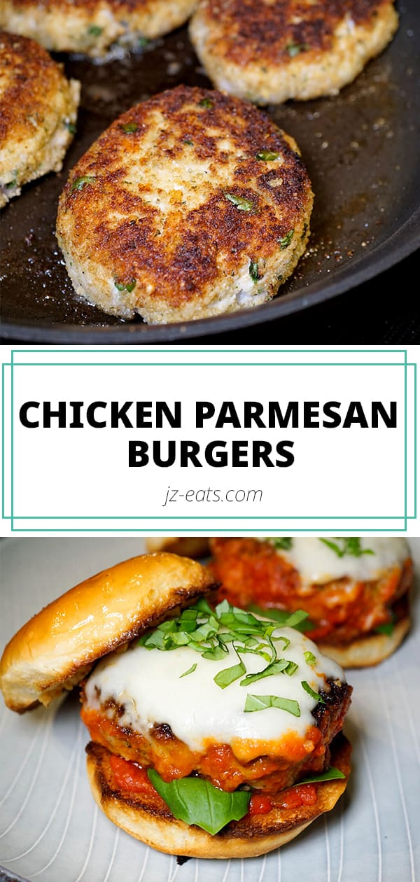 Chicken Parmesan Burgers Pinterest Long Pin