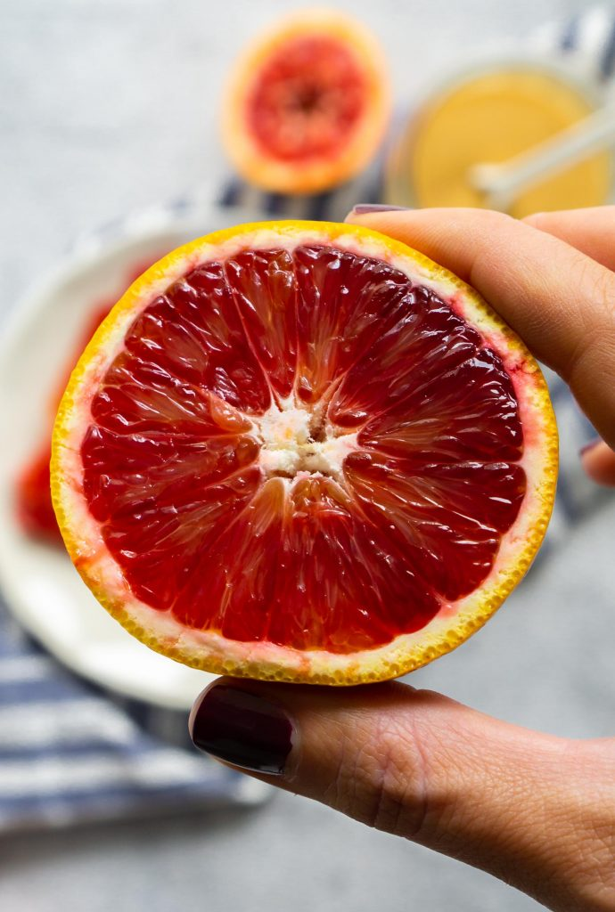 half of a blood orange