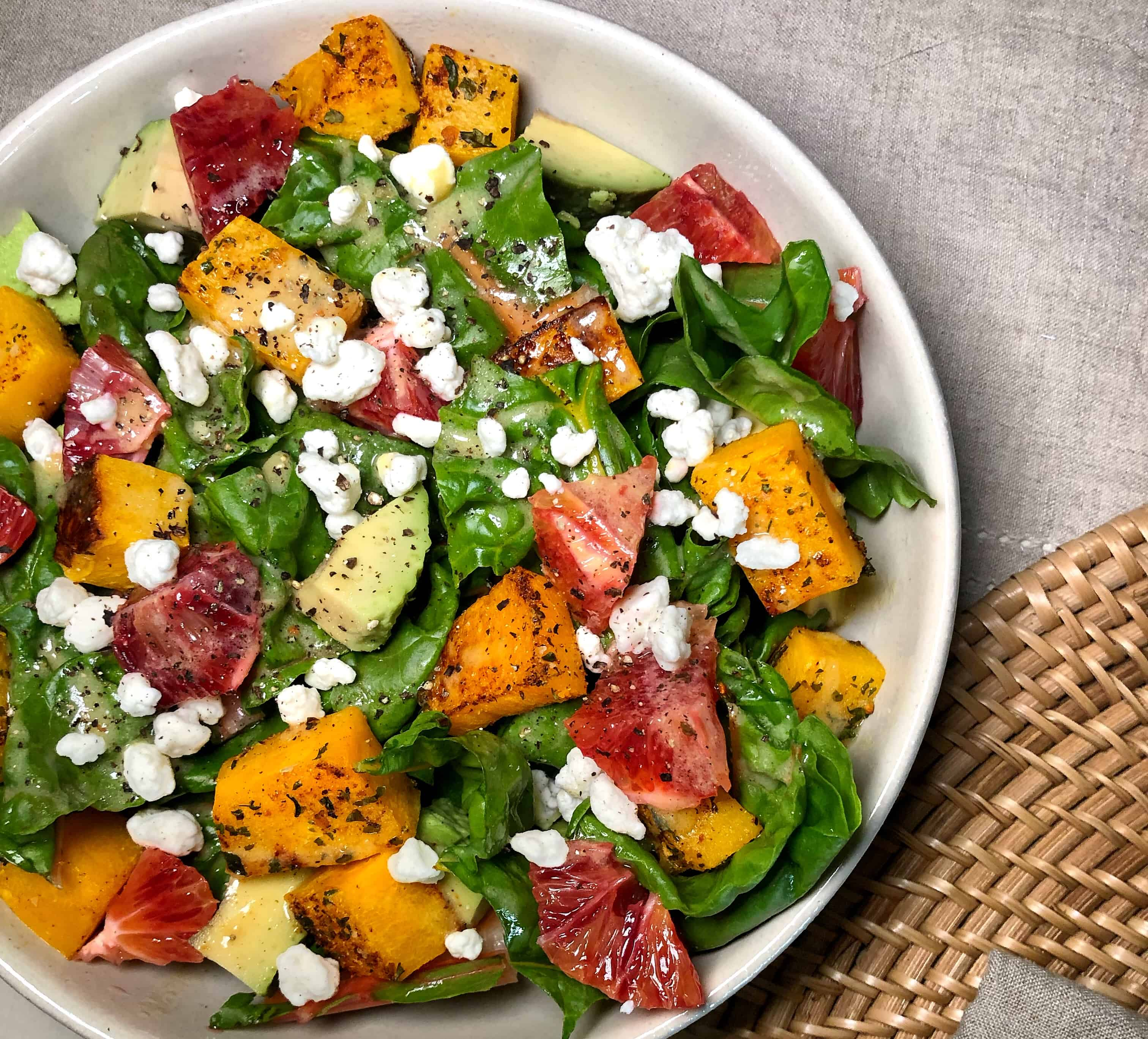 That Good Salad Recipe: Easy Green Salad Recipe With Blood Orange Vinaigrette