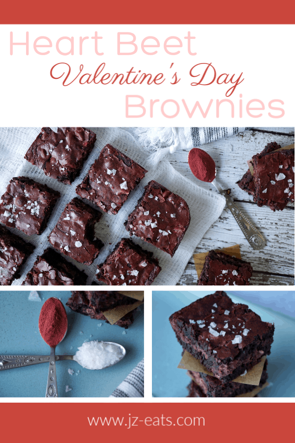 Heart Beet Valentine's Day Brownie pinterest pin