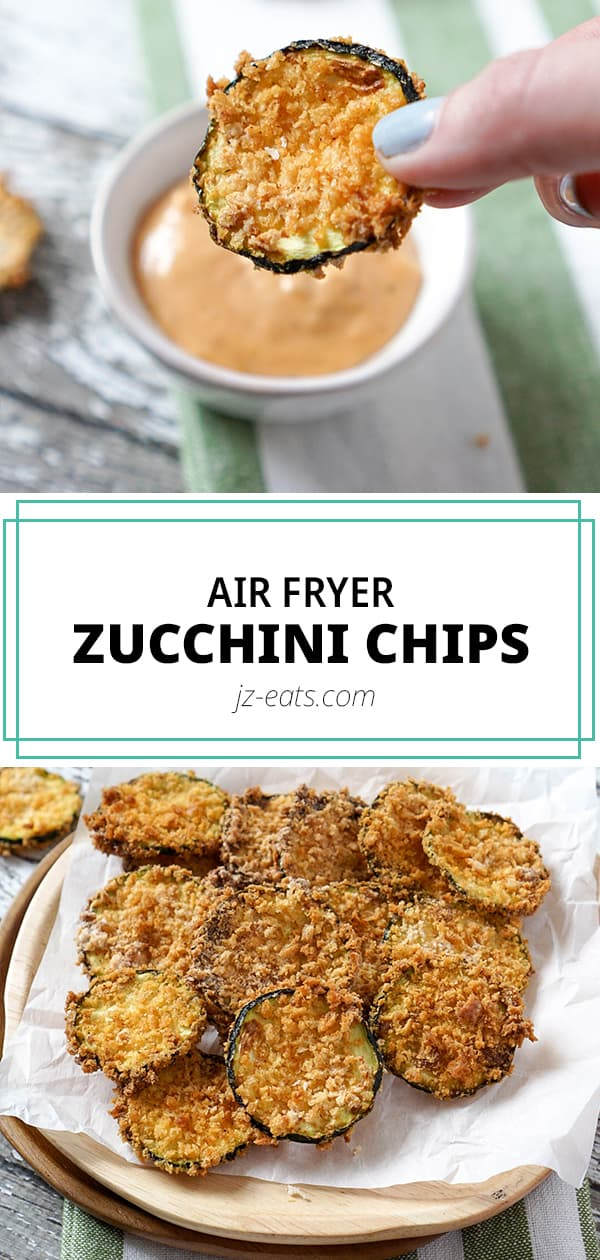 Air fryer zucchini chips pinterest long pin