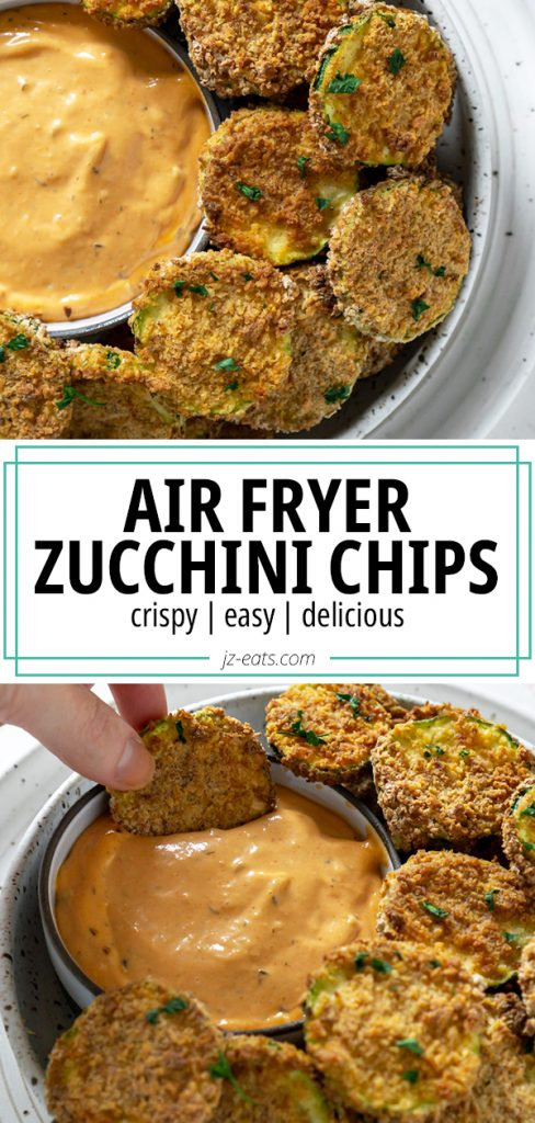 air fryer zucchini chips pin