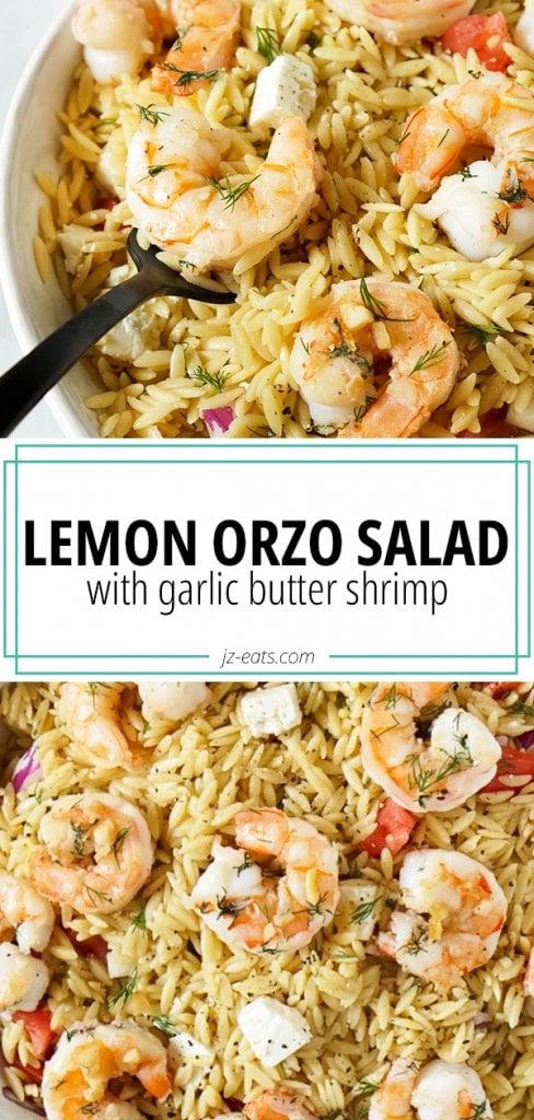 lemon orzo salad pin