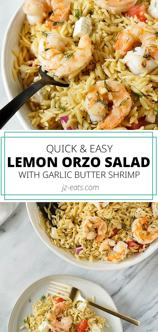 orzo salad pinterest long pin