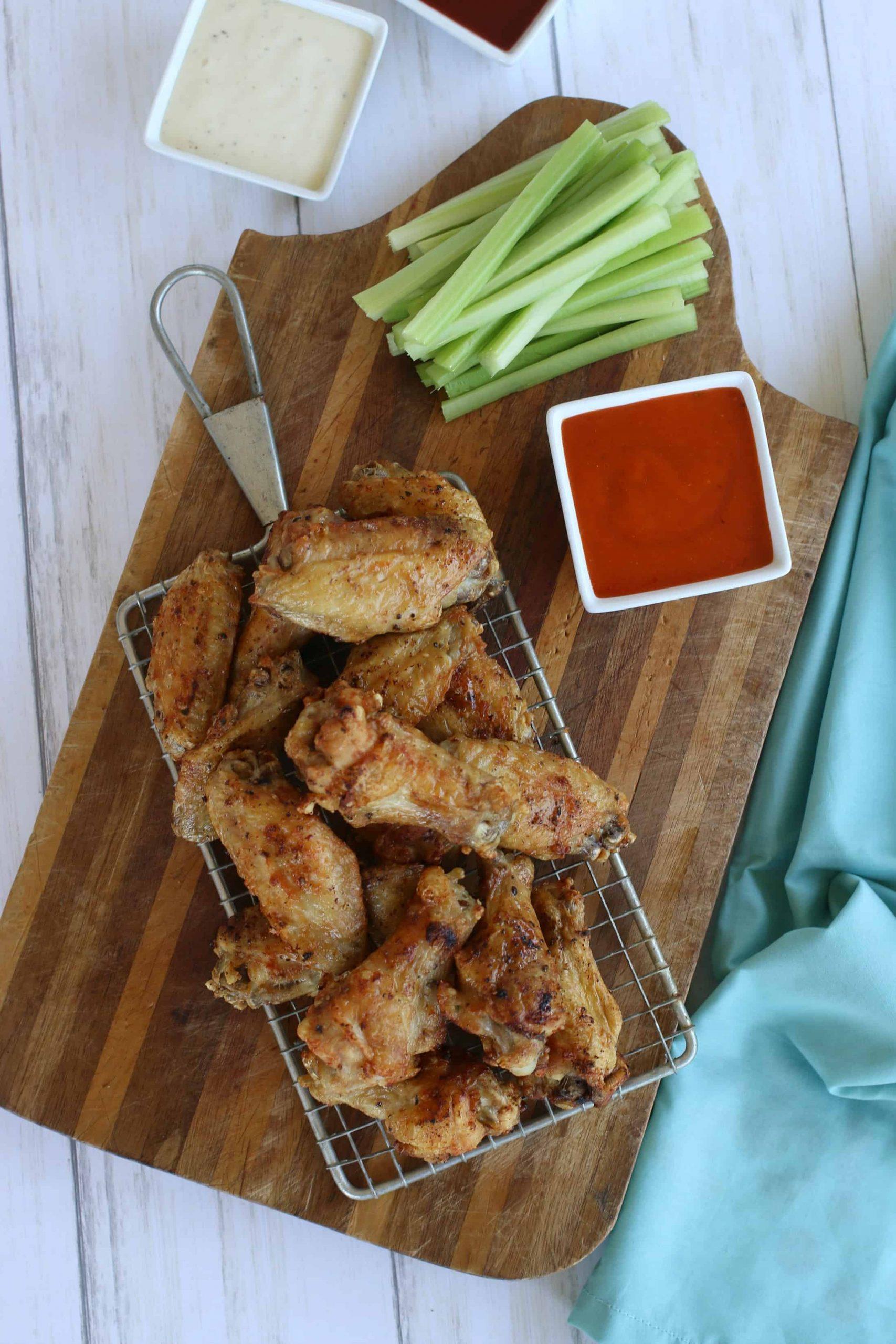 Crispy Air Fryer Chicken Wings (low