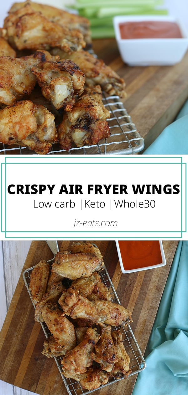 air fryer chicken wings pinterest long pin