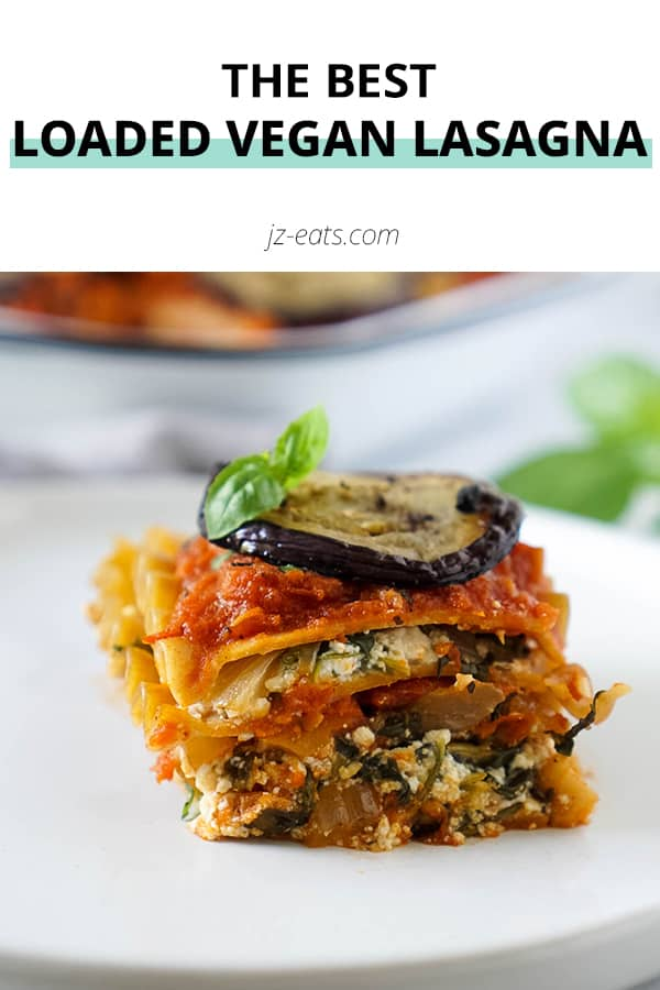 vegan lasagna pinterest short pin
