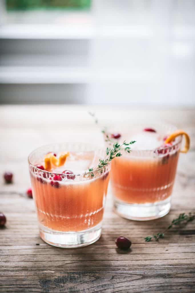 Cranberry Orange Whiskey Cocktail | Crowded Kitchen
