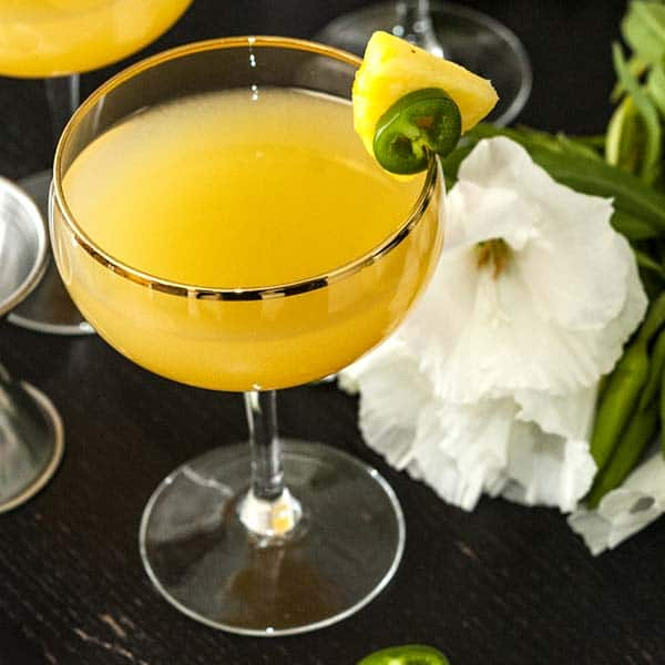 "The ""Hawaiian Bon Fire"" Spicy Pineapple Cocktail"