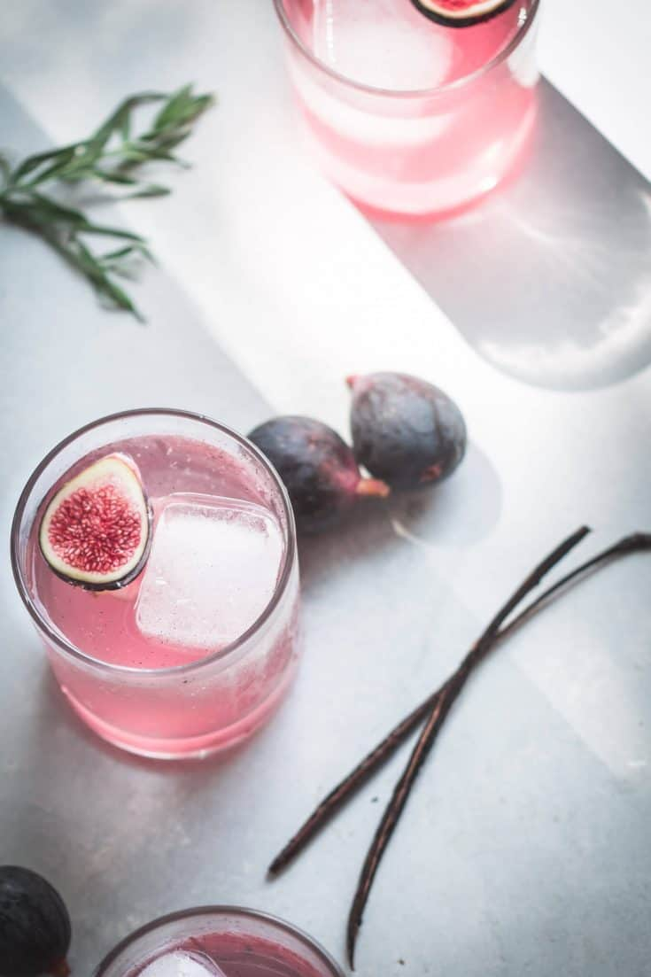 Vanilla Bean & Fig Cocktail