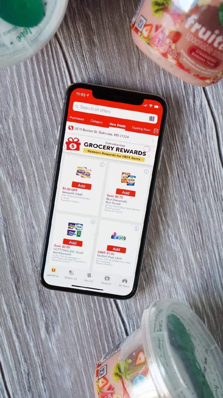 safeway app on an iphone