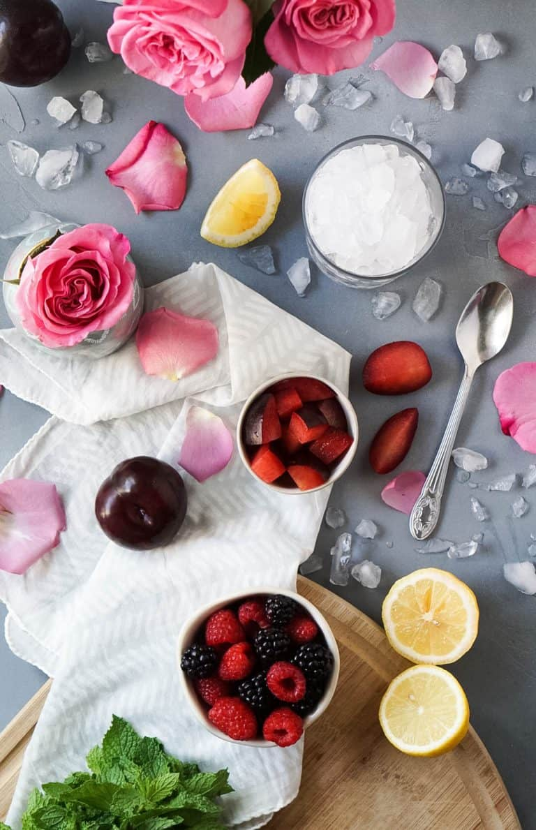 ingredients for rose' sangria