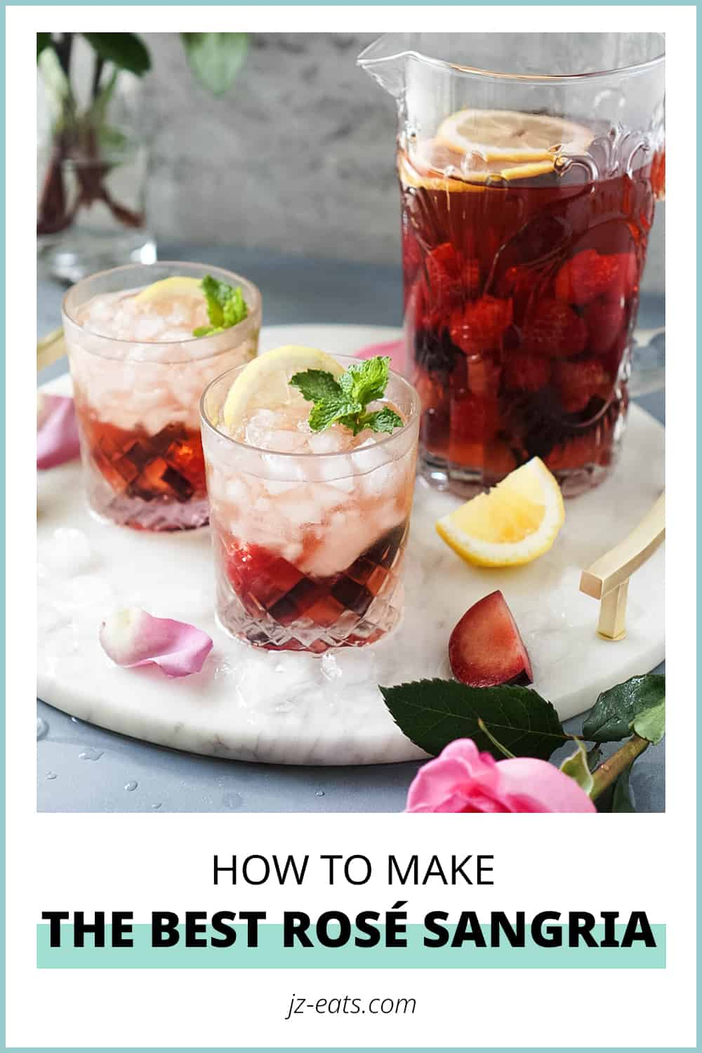 roseÌ sangria pinterest short pin