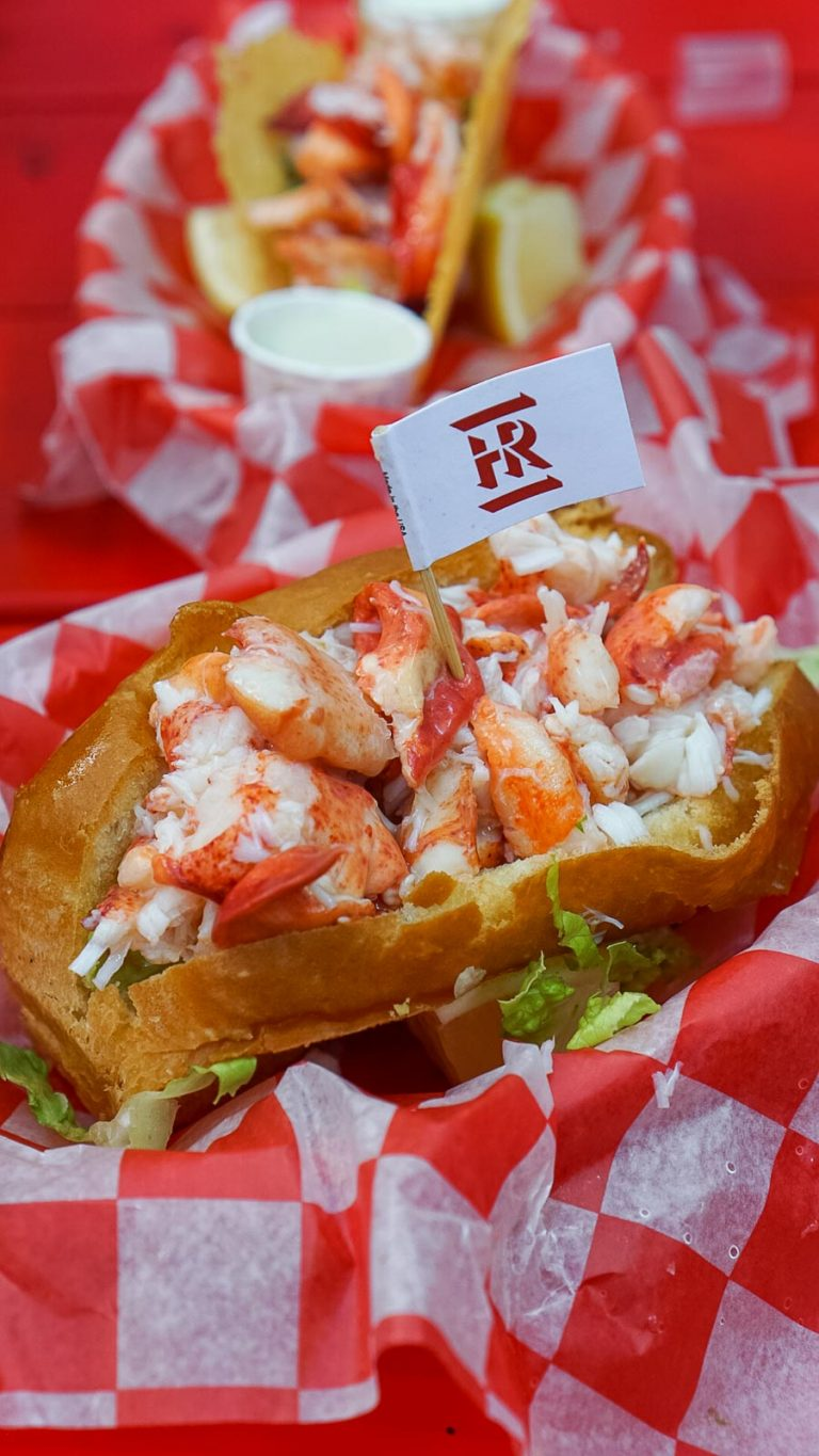 two lobster rolls from the high roller