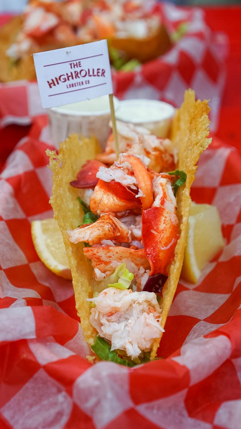 lobster taco from the high roller