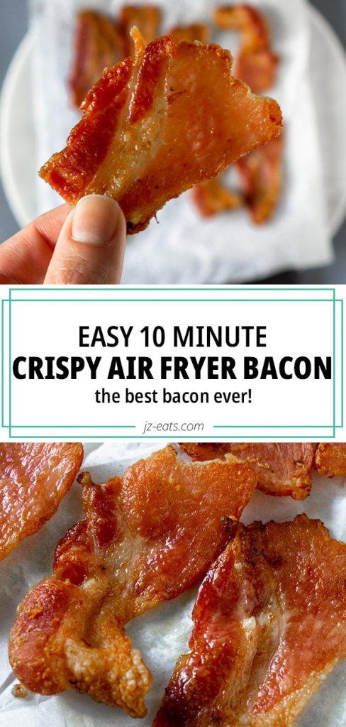 air fryer bacon pinterest long pin