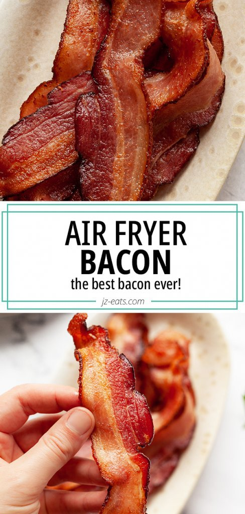 air fryer bacon pinterest pin