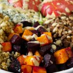close up of fall harvest salad