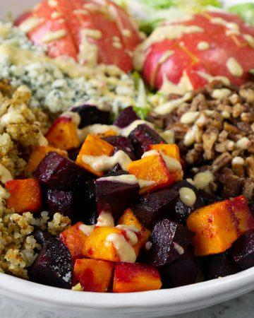 Fall Harvest Salad With Champagne Apple Cider Vinaigrette
