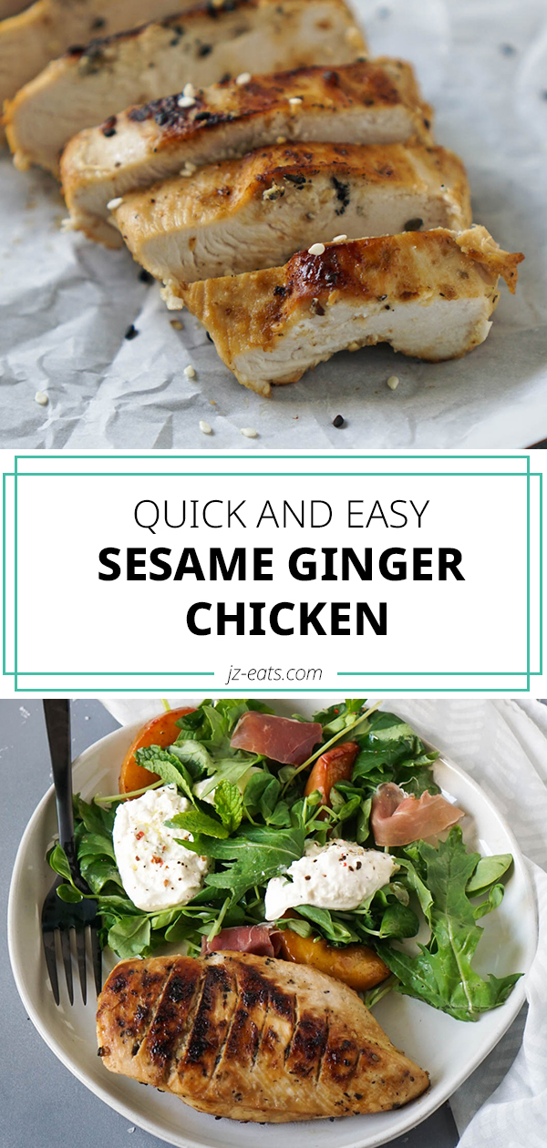 sesame ginger chicken pinterest long pin
