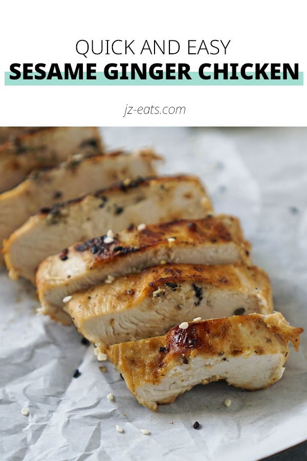 sesame ginger chicken pinterest short pin