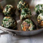 ground turkey meatballs in a skillet