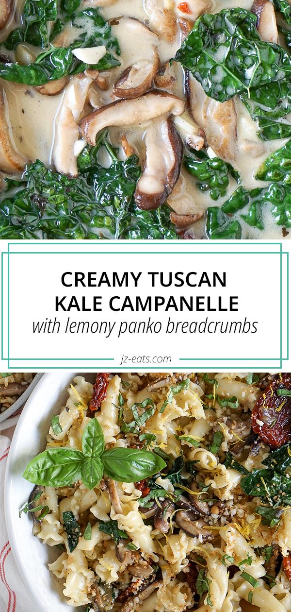 tuscan kale pasta pinterest long pin