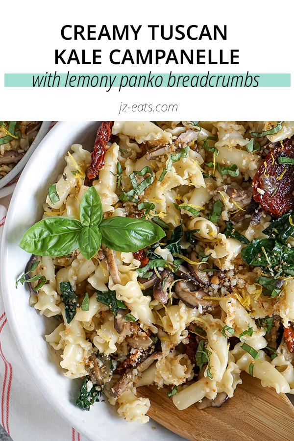 tuscane kale pasta pinterest short pin