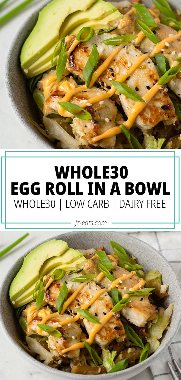 egg roll in a bowl pinterest long pin