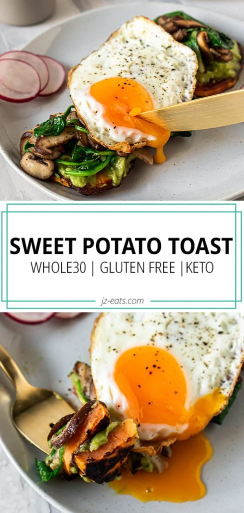 sweet potato toast pinterest long pin