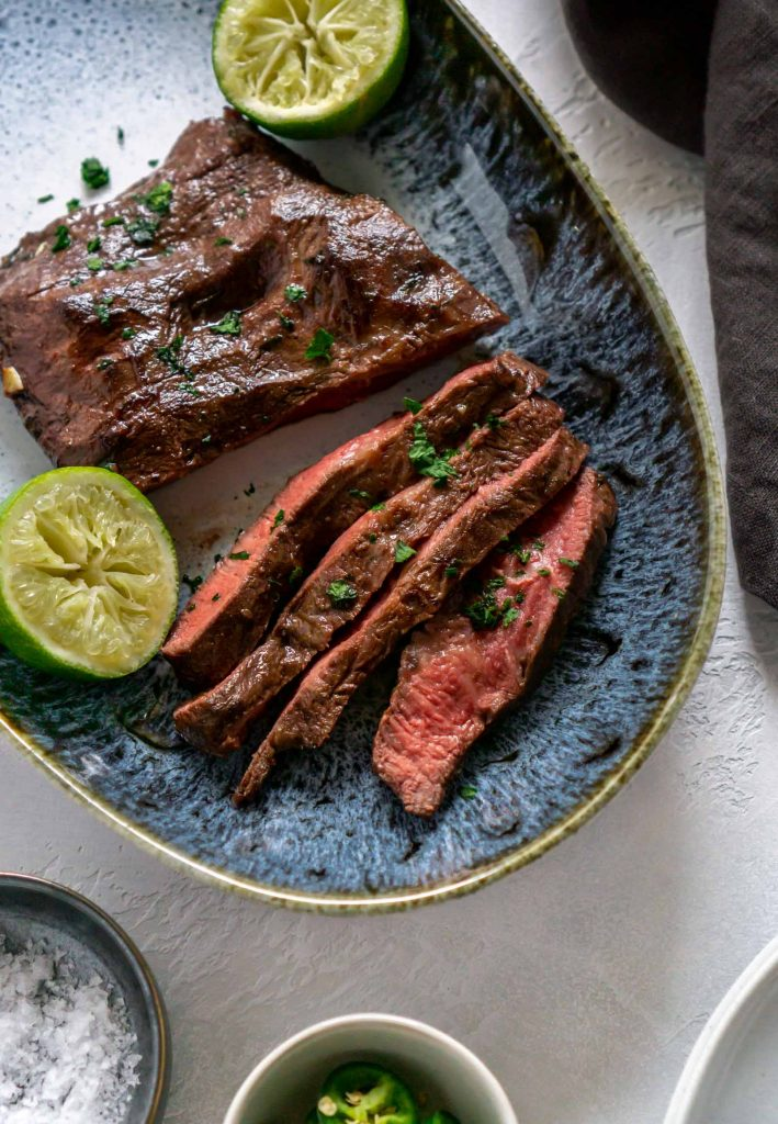 Juicy Jalapeno Lime Air Fryer Steak The Best Steak Marinade Jz Eats