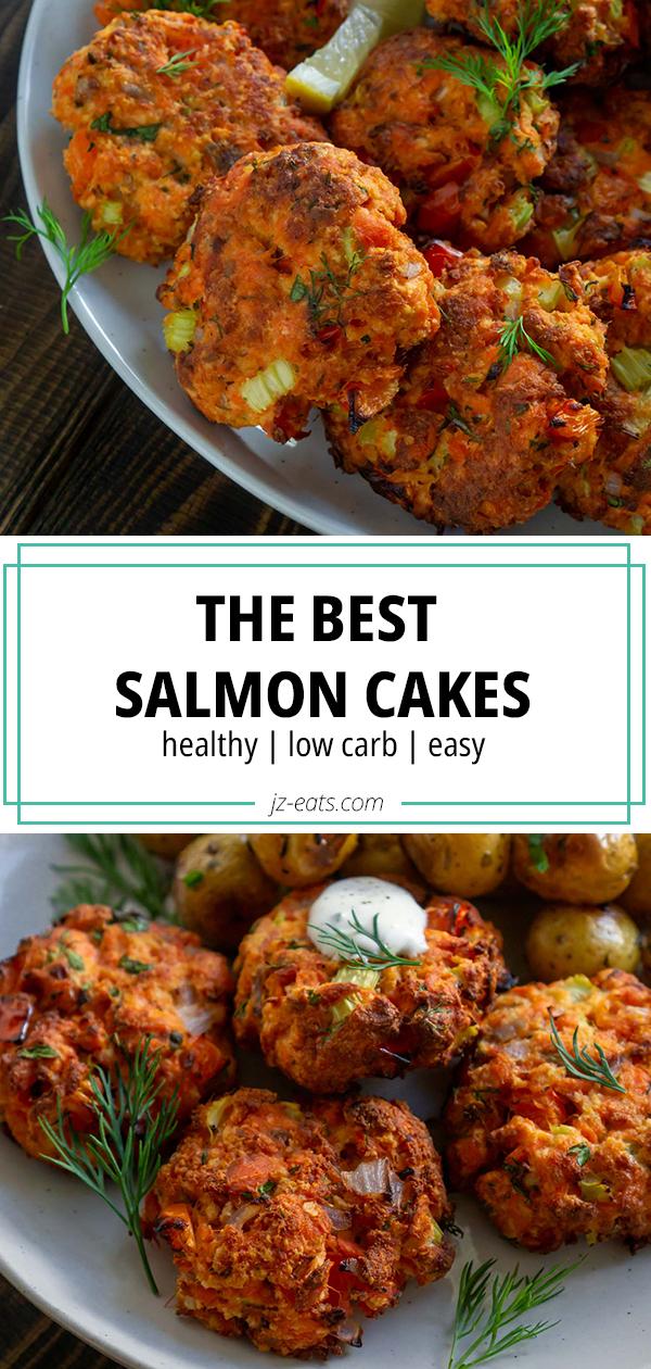 salmon cakes pinterest long pin