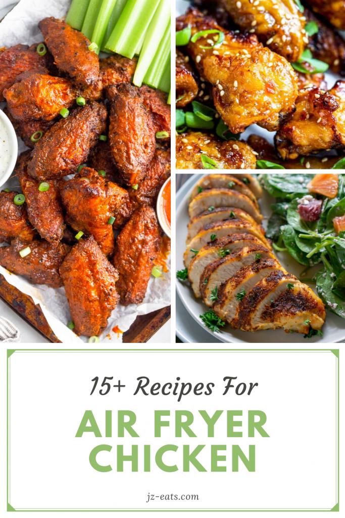 air fryer chicken recipes pinterest pin