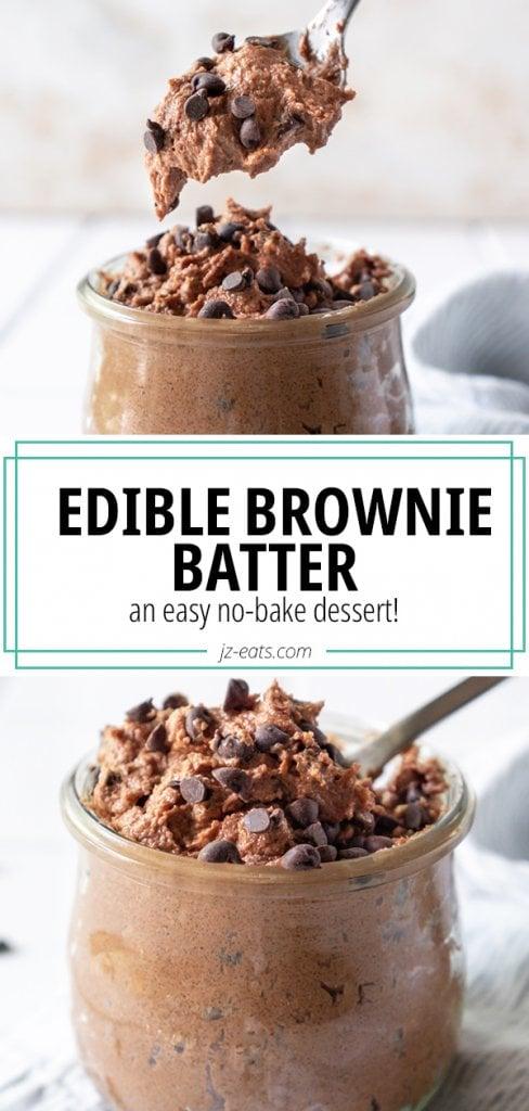 edible brownie batter pin