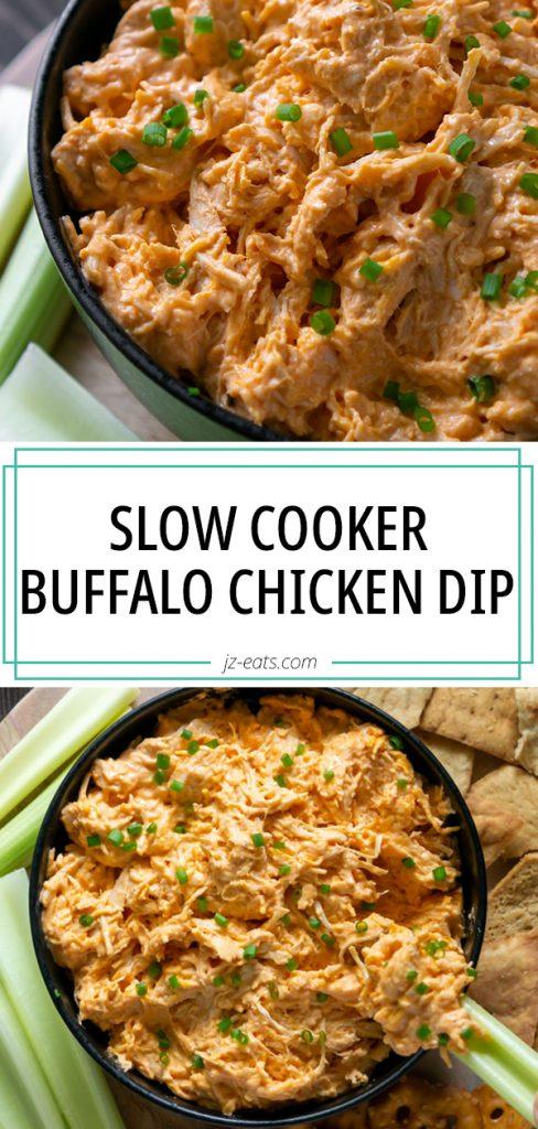 slow cooker buffalo chicken dip long pin