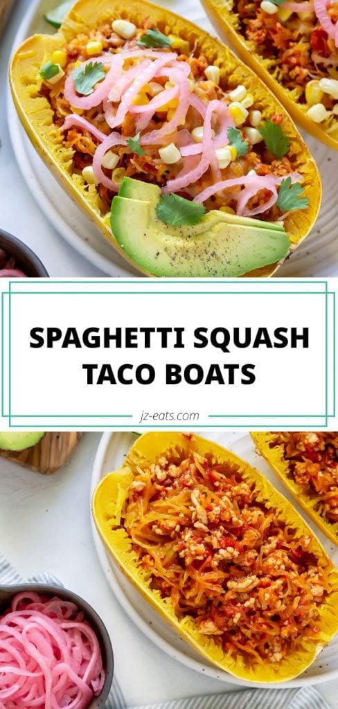 taco spaghetti squash boats long pin