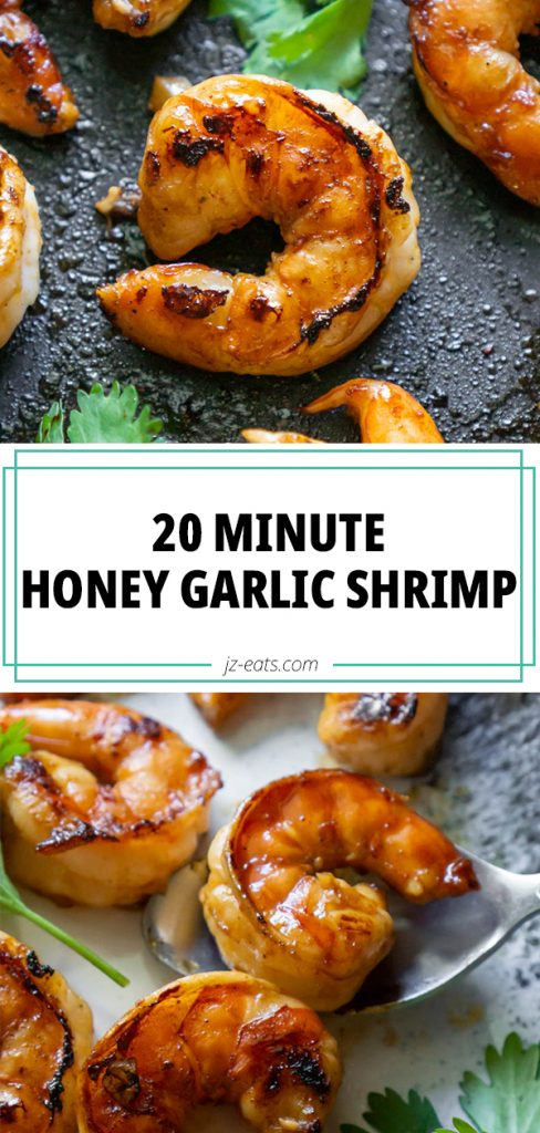 honey garlic shrimp long pin