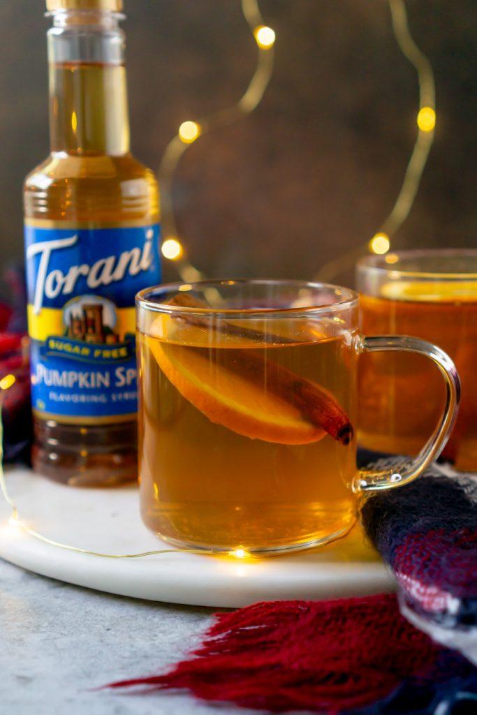 torani syrup behind a hot toddy