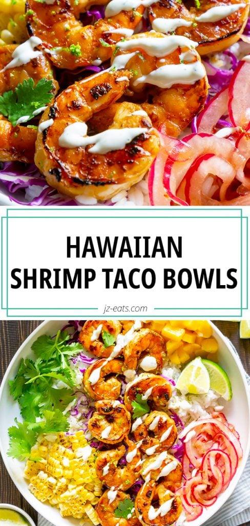shrimp taco bowls pin