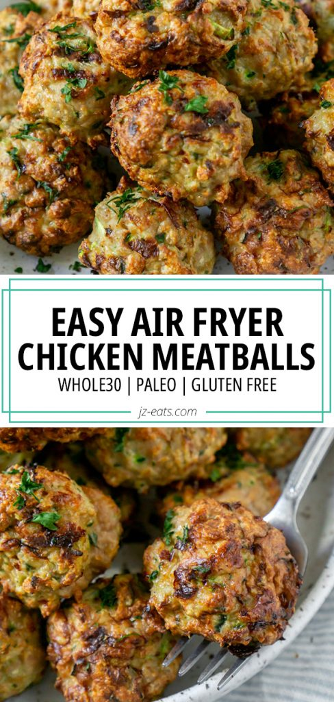 air fryer meatballs pin