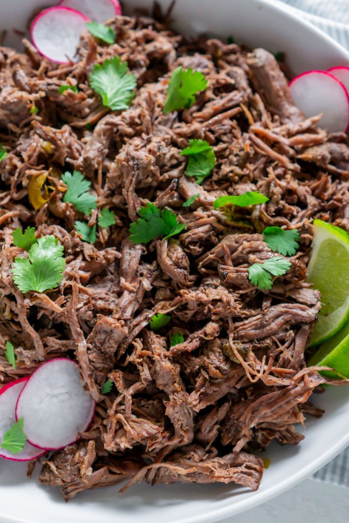 close up of chipotle barbacoa